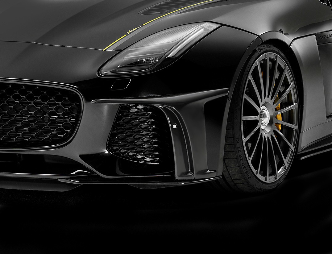 Arden Frontaufsätze für Jaguar F-Type SVR; für die originale Frontschürze; Satz
