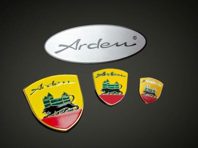 Set Arden Wappen und Arden Eblem Oval silber