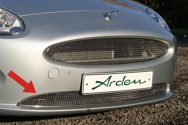 Arden stainless steel front grille for Jaguar XK