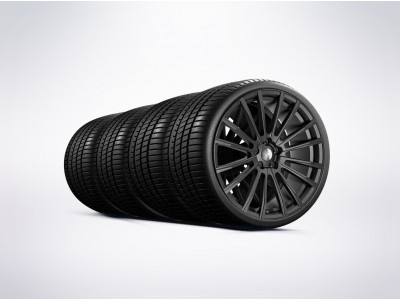Arden Dakar III Complete Wheel Set Matte Black for Jaguar and Range Rover