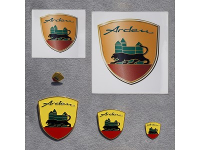 Set Arden crest, Pin and Stickers