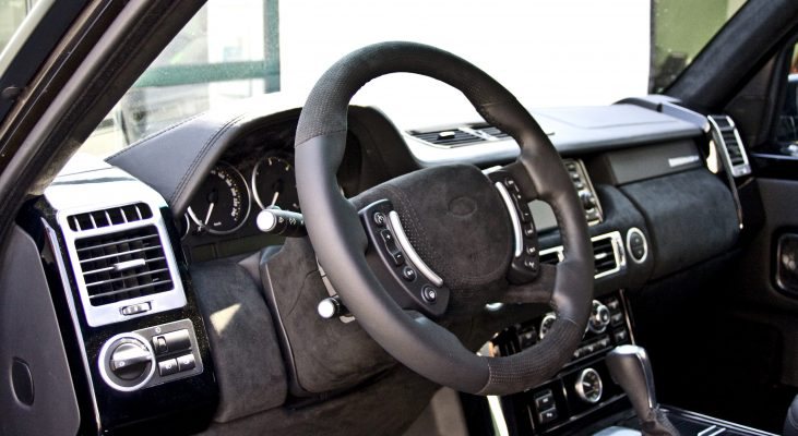 Arden-Range-Rover-LM-interior-steering-wheel-gear-knob-leather-trim