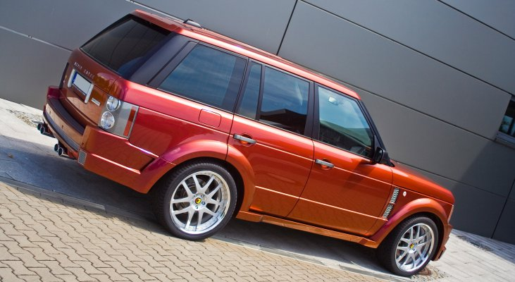 Arden-Range-Rover-LM-red-daylight-front-apron-wheels-side-sills
