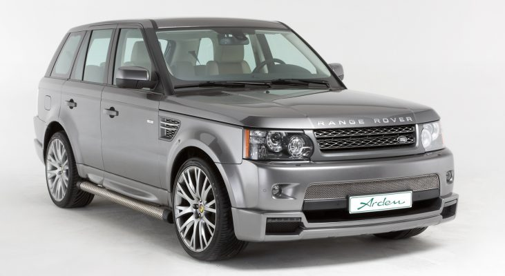 Arden-Range-Rover-grey-daylight-front-apron-wheels-wide-body-kit