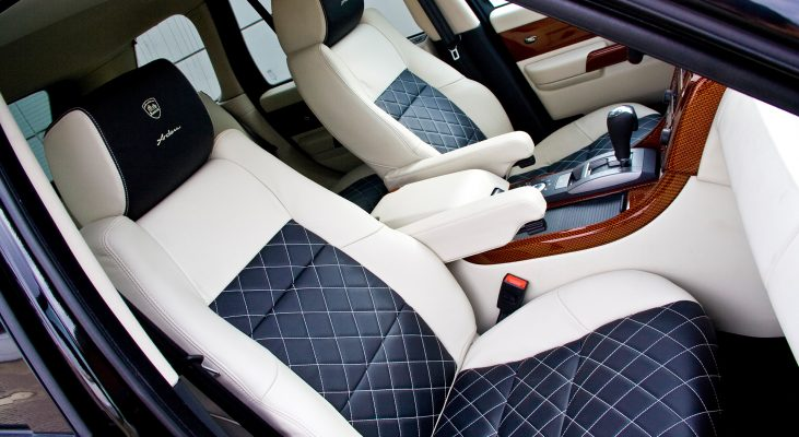 Arden-Range-Rover-interior-blue-white-seats