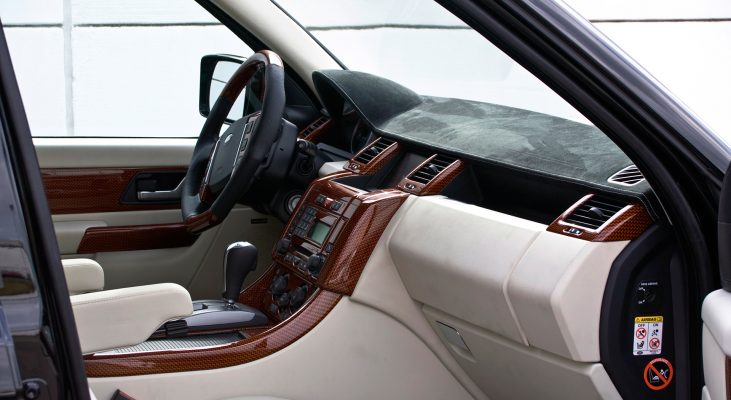 Arden-Range-Rover-interior-blue-white-steering-wheel