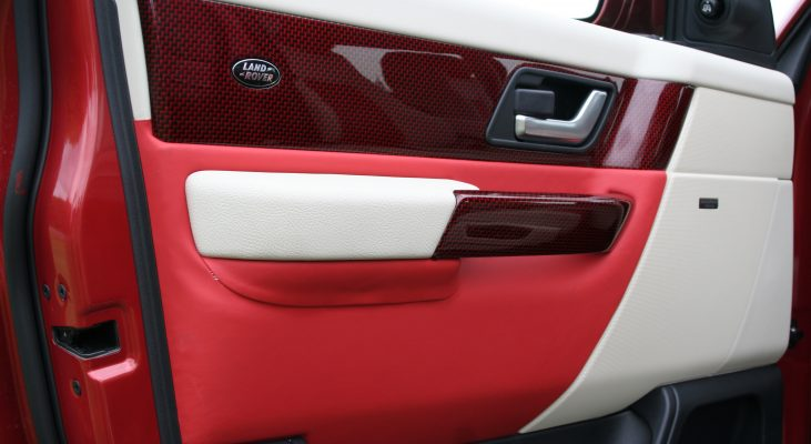 Arden-Range-Rover-interior-red-white-door