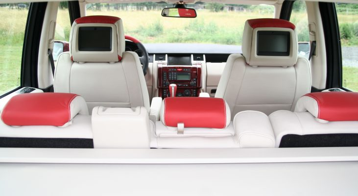 Arden-Range-Rover-interior-red-white-leather-trim-back-seat-display