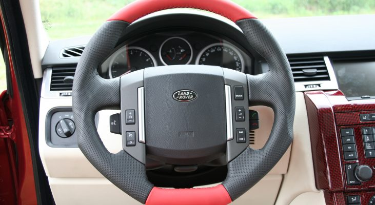 Arden-Range-Rover-interior-red-white-steering-wheel