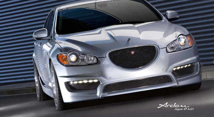 Jaguar-XF-X250-lowering-kit-front-grille-daylights-Arden