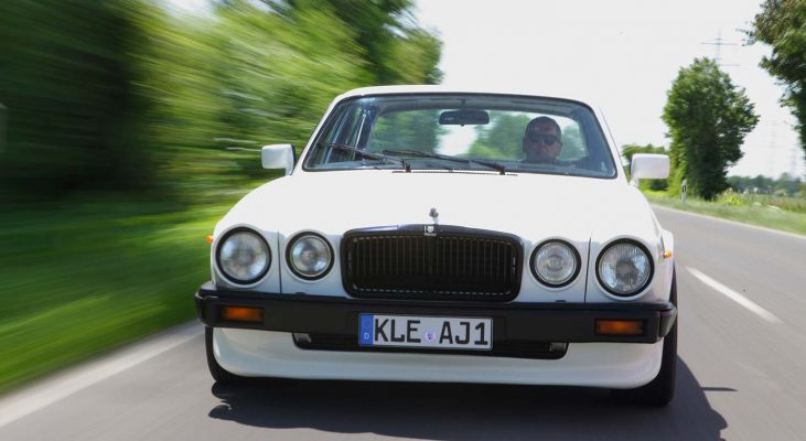Jaguar-XJ-v12-Daimler-aerodynamik-front-skirt-chrome-parts-coating-leaper-Arden