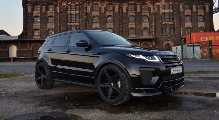 Range-Rover-Evoque-SUV-black-front-apron-front-spoiler-wheels-Arden