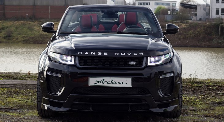 Range-Rover-Evoque-SUV-cabriolet-black-front-apron-front-spoiler-wheels-Arden