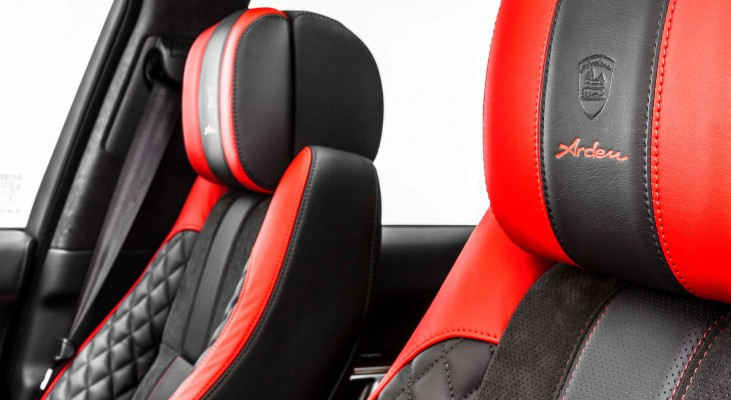 Range-Rover-LG-interior-red-leather-trim-upholstery-lettering